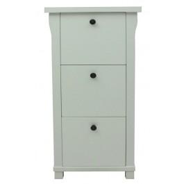 Hampton White Painted 3 Drawer Filing Cabinet