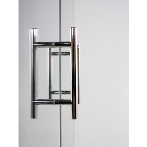 Mirrored tall 2 door cabinet for Mirrored cabinet doors