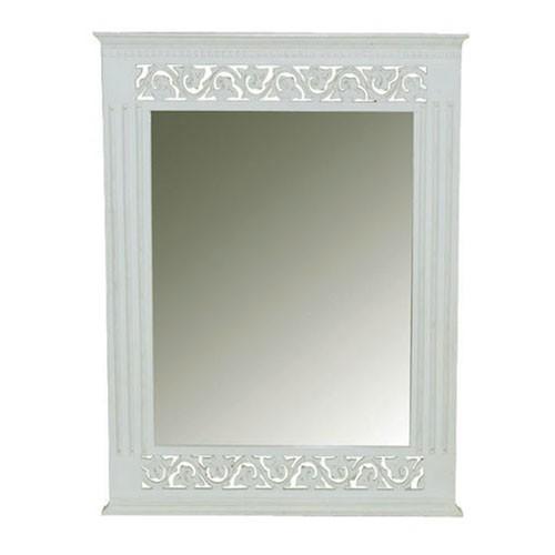 Shabby Chic Wall Mirror belgravia chic wall mirror - white