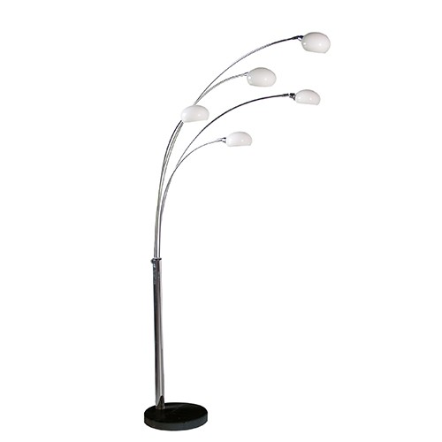 5 Arm Crome Floor Lamp Multi Arm Floor Lamp