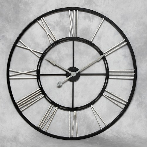 Large Black Metal Clock 78
