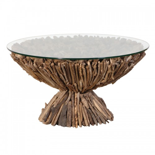 round driftwood coffee table. Black Bedroom Furniture Sets. Home Design Ideas