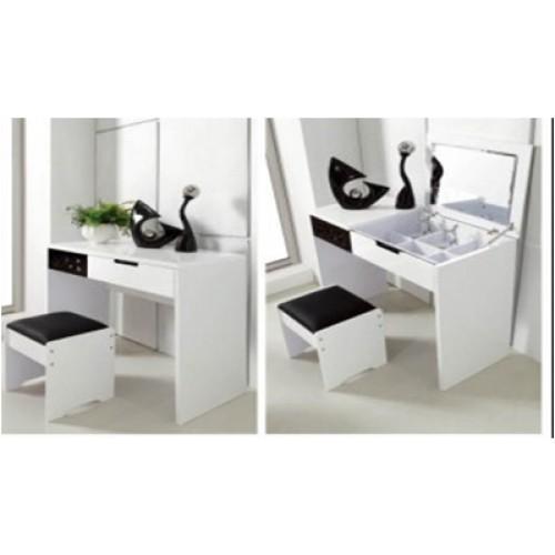Black gloss makeup table makeup vidalondon - Modern black dressing table ...