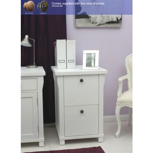 Used Metal Storage Cabinet >> Hampton White Painted 2 Drawer Filing Cabinet