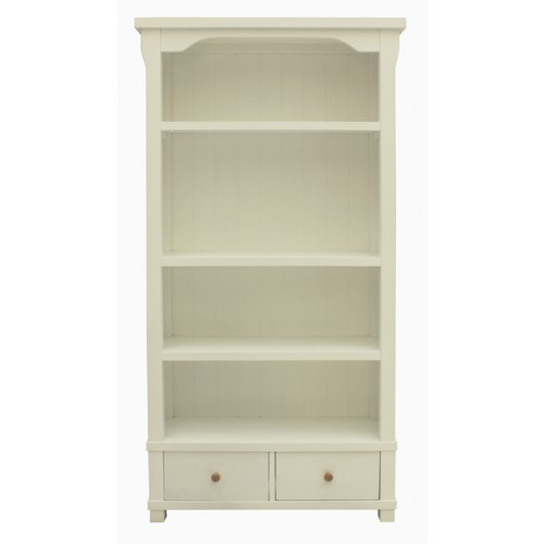 Hampton White Painted Bookcase with Drawers
