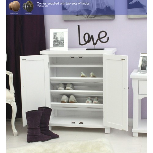 Hampton White Painted Shoe Cupboard