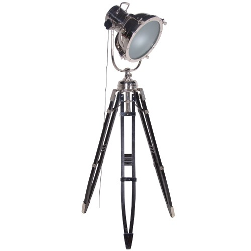 Large aluminium spotlight tripod floor lamp - Tripod spotlight lamp ...