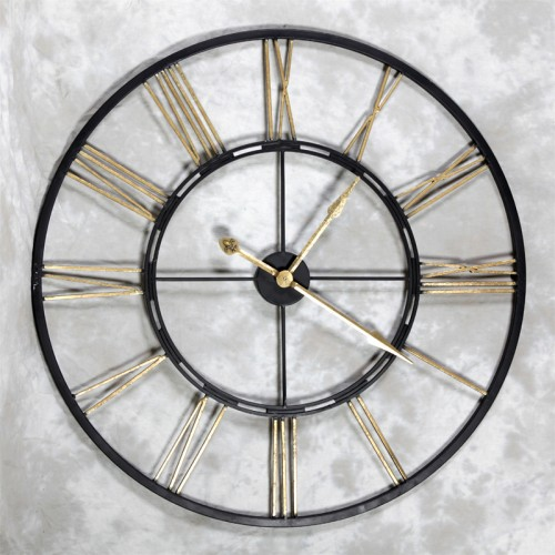Large Black Metal Clock 93