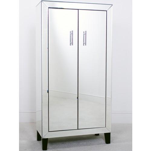 Mirrored Tall 2 Door Cabinet