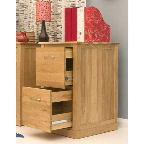 Mobel Oak 2 Drawer Filing Cabinet