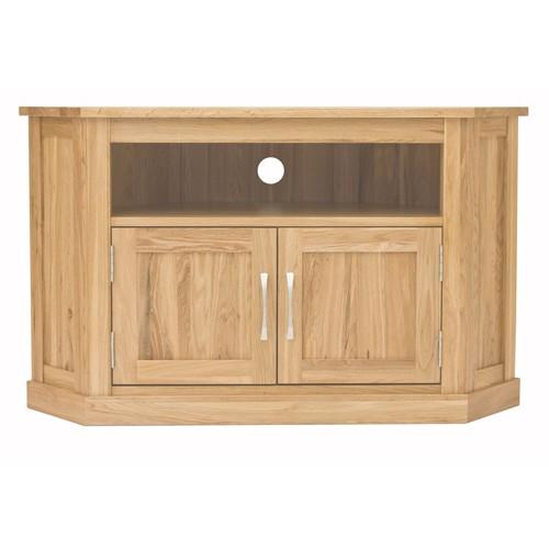 medium oak corner cabinet 2