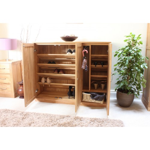 mobel oak shoe cupboard extra wide baumhaus mobel oak extra