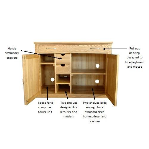 oak hidden home office. Mobel Oak Hidden Home Office Dimms 1