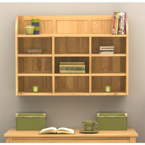 Mobel oak wall shelves Wall mounted bookcase shelves