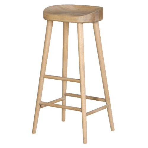 Oak Bar Stools ~ Weathered oak farmhouse bar stool