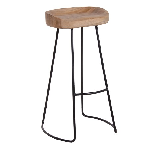 Weathered Oak amp Metal Bar Stool : naturaloakmetalbarstool from www.dooleysfurniture.com size 500 x 500 jpeg 19kB