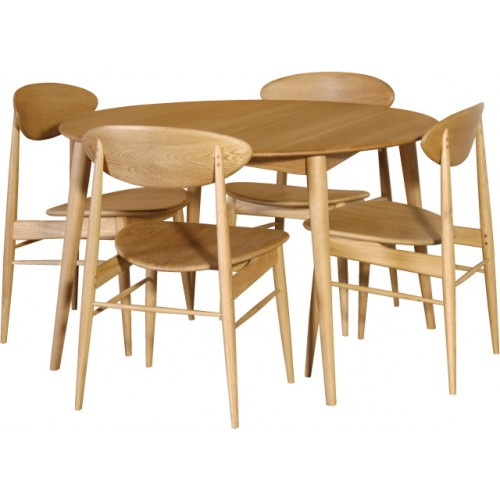 50 39 s retro oak round dining table set