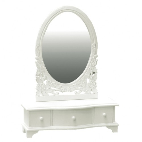 belgravia chic dressing table mirror white