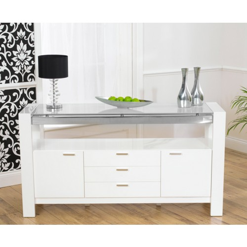 sophia white high gloss sideboard. Black Bedroom Furniture Sets. Home Design Ideas