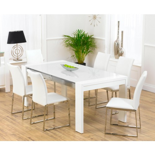 Sophia white high gloss dining table for White high gloss dining table