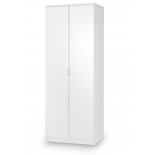 White High Gloss 2 Door Wardrobe
