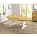 Hannah Oak Painted Extending Dining Table