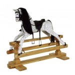 Childs Rocking Horse - Dappel Grey