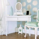 Shabby Chic Dressing Table and Mirror - White