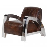 Vintage Leather A Frame Armchair
