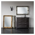 Abbey Rectangle Mirror Silver