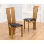 Arizona Oak Dining Chair - Pair