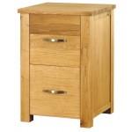 Aston Oak 2 Drawer Filing Cabinet