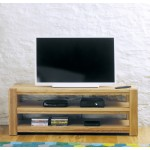 Aston Oak Widescreen Open TV Cabinet
