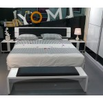 Trentino Black + White High Gloss Super King Size Bed
