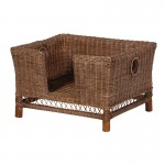 Brown Rattan Dog Bed - Medium