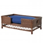 Brown Rattan Dog Bed - Extra Large