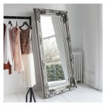 Carved Louis Leaner Mirror Silver