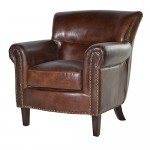 Classic Vintage Leather Armchair
