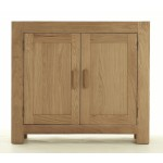 Contemporary Oak 2 Door Cupboard - Large
