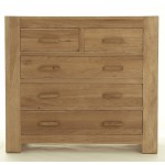Contemporary Oak 2 over 3 Chest