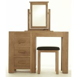 Contemporary Oak Dressing Table Set