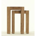 Contemporary Oak Nest of 2 Tables