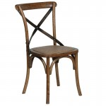 Dark Oak Bentwood X Back Dining Chair