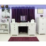Hampton White Painted Double Pedestal Computer Desk