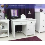 Hampton White Painted Single Pedestal Computer Desk