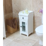 Hampton White Painted Small Bathroom Cabinet