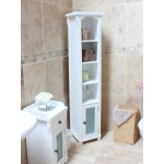 Hampton White Painted Tall Bathroom Unit