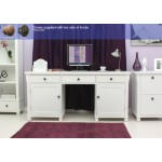 Hampton White Painted Twin Pedestal Computer Desk