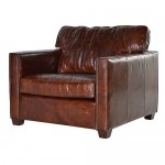Harper Brown Leather Armchair