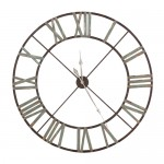 Large Aged Metal Wall Clock